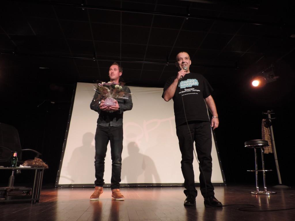 Daniel Camus et Christophe Mauduit le président de l'association