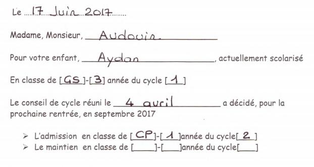 Aydan passe en CP