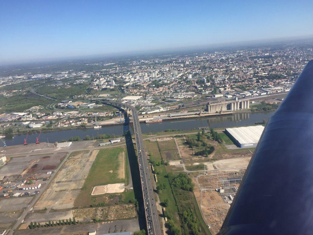 Pont de cheviré vue d'avion