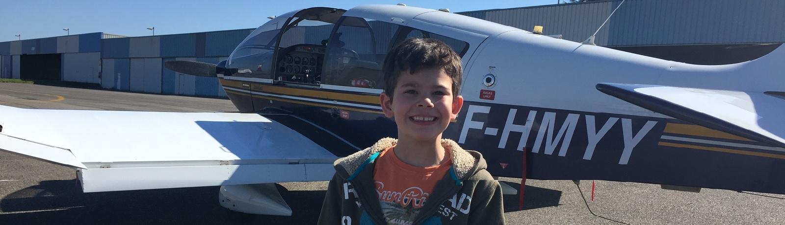 Aydan en avion